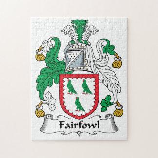 Escudo de la familia de Fairfowl Rompecabezas Con Fotos