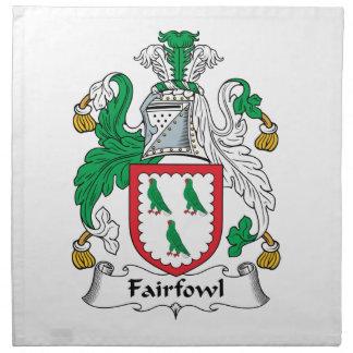 Escudo de la familia de Fairfowl Servilletas De Papel