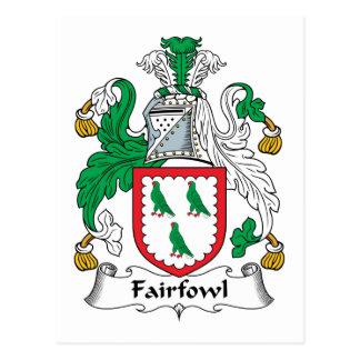 Escudo de la familia de Fairfowl Tarjeta Postal