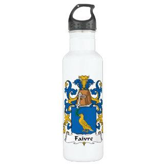 Escudo de la familia de Faivre Botella De Agua