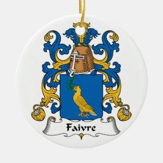 Escudo de la familia de Faivre Ornamento De Reyes Magos