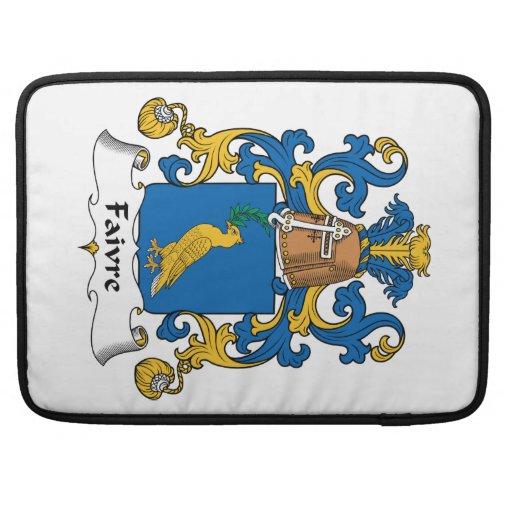 Escudo de la familia de Faivre Funda Para Macbook Pro