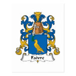 Escudo de la familia de Faivre Postal