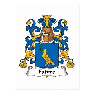 Escudo de la familia de Faivre Postales