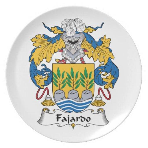 Escudo de la familia de Fajardo Platos