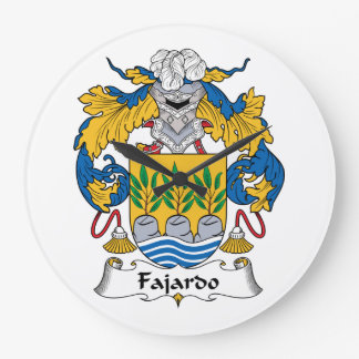 Escudo de la familia de Fajardo Relojes De Pared