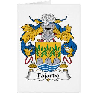 Escudo de la familia de Fajardo Felicitaciones