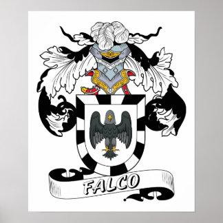 Escudo de la familia de Falco Póster