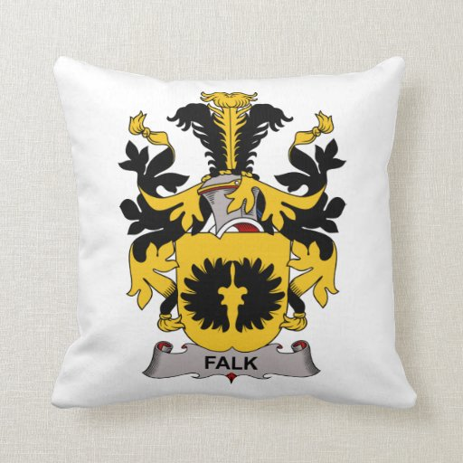 Escudo de la familia de Falk Almohadas