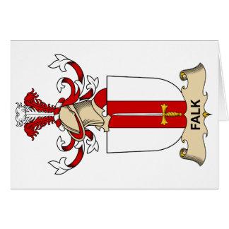 Escudo de la familia de Falk Tarjeta De Felicitación