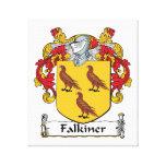 Escudo de la familia de Falkiner Impresion De Lienzo