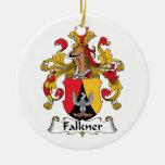 Escudo de la familia de Falkner Ornamentos De Navidad