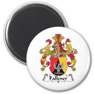 Escudo de la familia de Falkner Imán Redondo 5 Cm