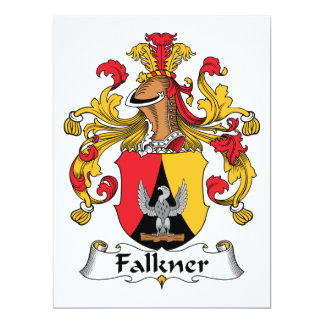 """Escudo de la familia de Falkner Invitación 6.5"""" X 8.75"""""""