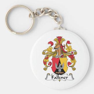 Escudo de la familia de Falkner Llavero Redondo Tipo Pin