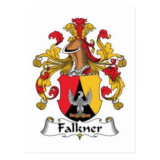 Escudo de la familia de Falkner Postal