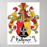 Escudo de la familia de Falkner Posters