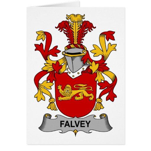 Escudo de la familia de Falvey Tarjeta De Felicitación