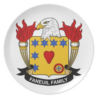 Escudo de la familia de Faneuil Plato De Cena