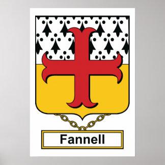 Escudo de la familia de Fannell Póster