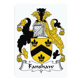 """Escudo de la familia de Fanshaw Invitación 5"""" X 7"""""""