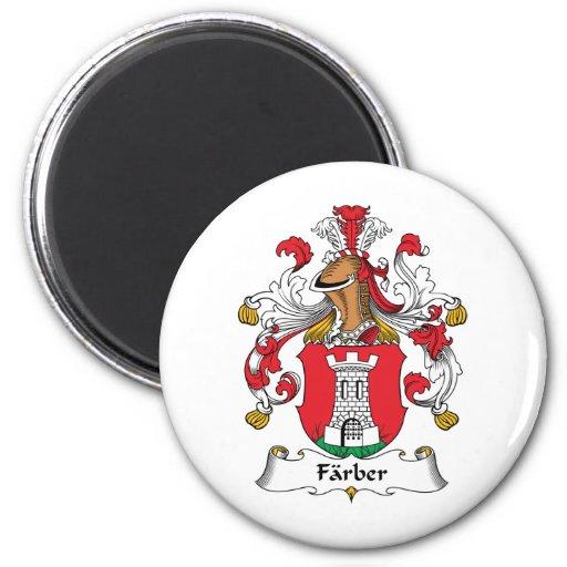 Escudo de la familia de Farber Imán Para Frigorifico
