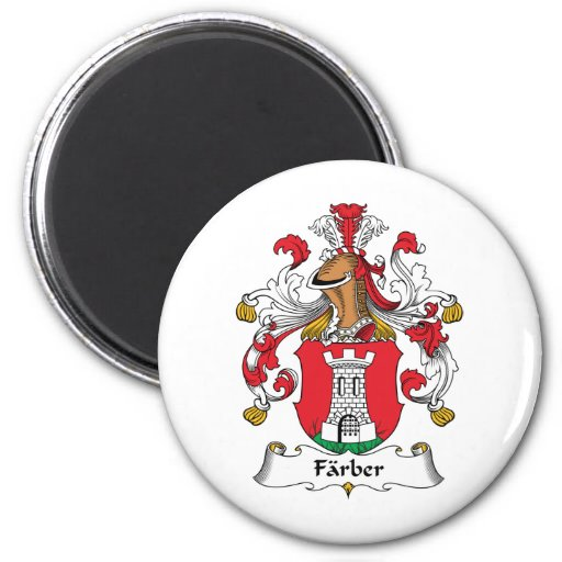Escudo de la familia de Farber Imán Redondo 5 Cm