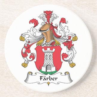 Escudo de la familia de Farber Posavasos Para Bebidas