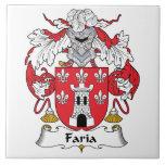 Escudo de la familia de Faria Tejas Ceramicas