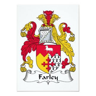 """Escudo de la familia de Farley Invitación 5"""" X 7"""""""