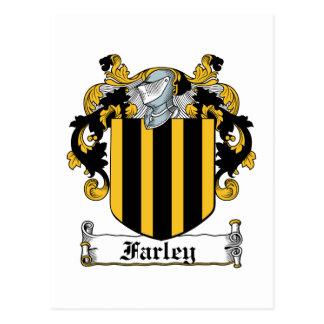 Escudo de la familia de Farley Tarjeta Postal