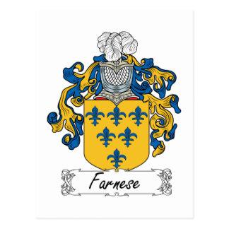 Escudo de la familia de Farnese Tarjetas Postales