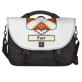 Escudo de la familia de Farr Bolsas Para Portátil