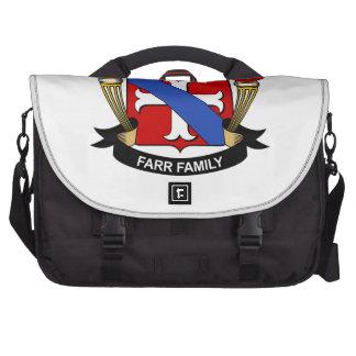Escudo de la familia de Farr Bolsa Para Ordenador