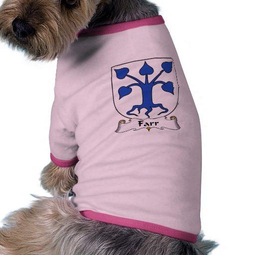 Escudo de la familia de Farr Camisetas Mascota