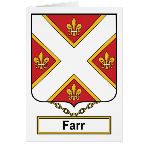 Escudo de la familia de Farr Felicitación