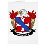 Escudo de la familia de Farr Felicitacion