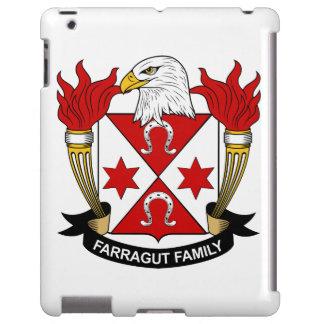 Escudo de la familia de Farragut Funda Para iPad