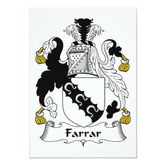 """Escudo de la familia de Farrar Invitación 5"""" X 7"""""""