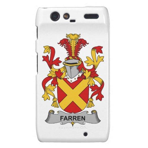 Escudo de la familia de Farren Motorola Droid RAZR Funda