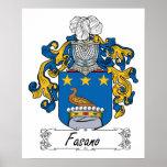 Escudo de la familia de Fasano Poster