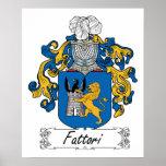 Escudo de la familia de Fattori Impresiones