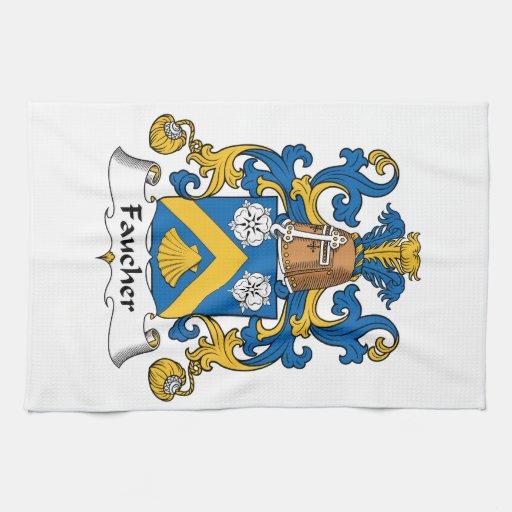 Escudo de la familia de Faucher Toalla