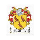 Escudo de la familia de Faulkner Lona Estirada Galerías