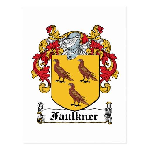 Escudo de la familia de Faulkner Postal