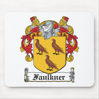 Escudo de la familia de Faulkner Tapetes De Ratones