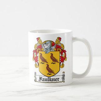 Escudo de la familia de Faulkner Taza Básica Blanca