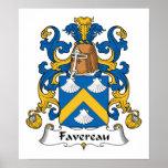 Escudo de la familia de Favereau Impresiones