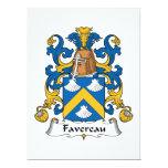 Escudo de la familia de Favereau Comunicado Personalizado