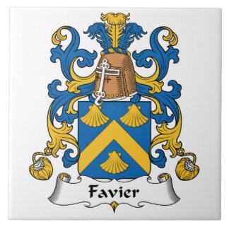 Escudo de la familia de Favier Azulejo Cuadrado Grande